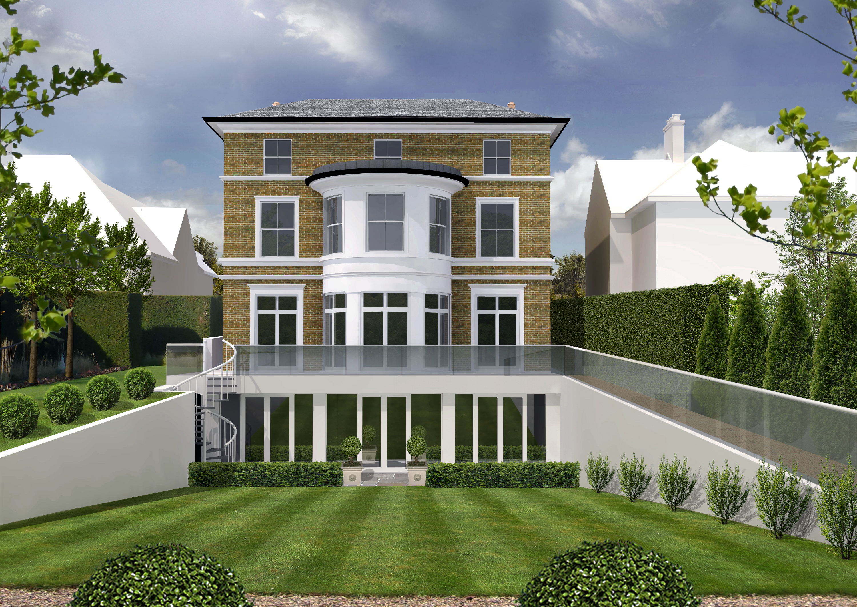 Planning approval granted for house in west london des for Classical house