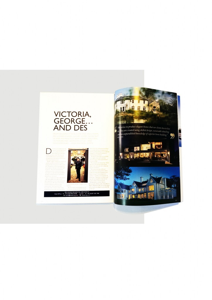 luxury property show magazine advert